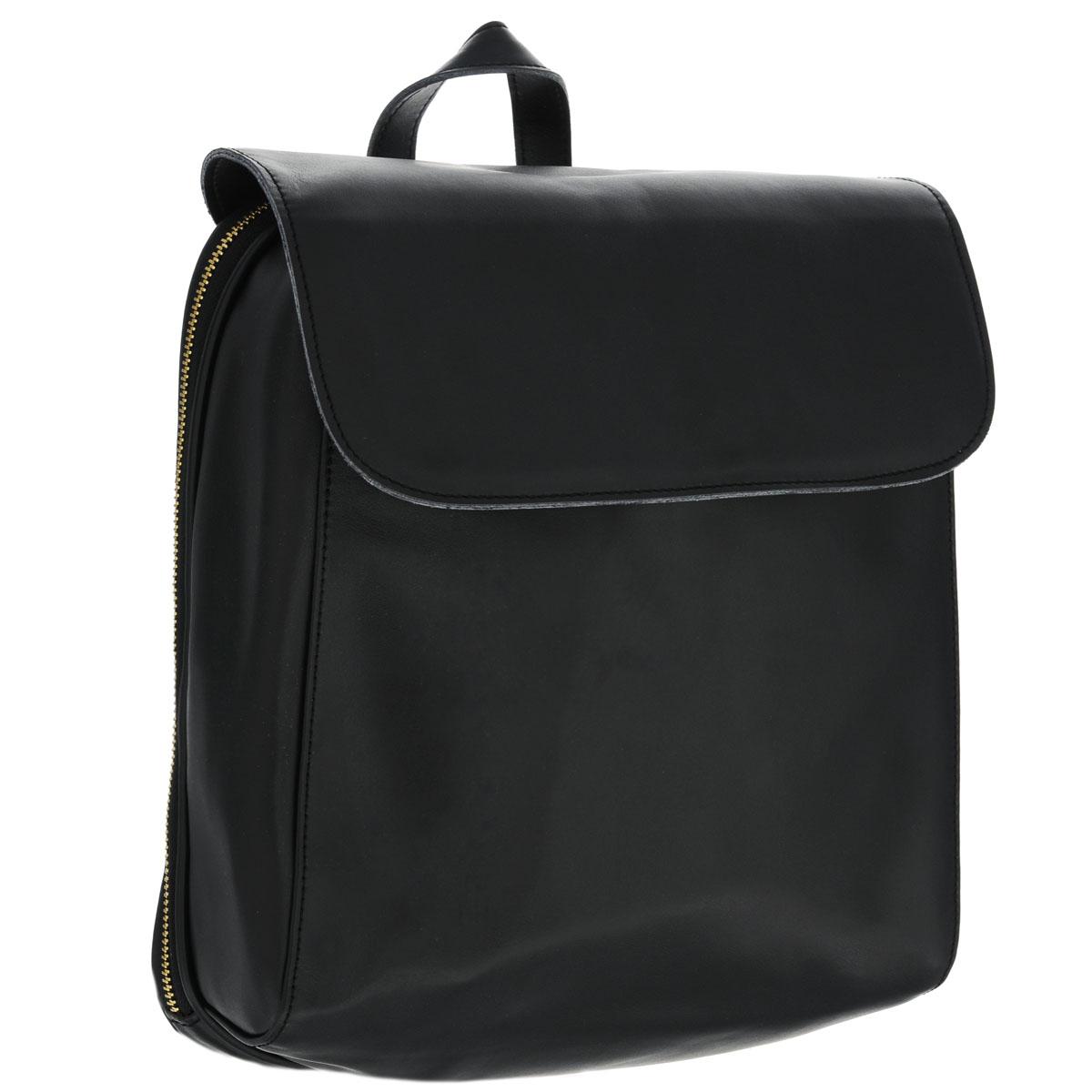 Рюкзак женский Fancys Bag, цвет: черный. 9531-04499300нТрендовый женский рюкзак-сумка Fancys Bag изготовлен из натуральной кожи и исполнен в лаконичном стиле. Изделие закрывается клапаном на магнитную кнопку и дополнительно на застежку-молнию. Вместительное внутреннее отделение, разделенное средником на молнии, содержит два накладных кармашка для мелочей, мобильного телефона и врезной карман на застежке-молнии. Обратная сторона дополнена врезным карманом на магнитной кнопке. Сумка оснащена ручкой-переноской и плечевыми лямками регулируемой длины. В комплект с рюкзаком входит стильный фирменный чехол.Модный рюкзак-сумка не только покорит своим удобством, но и позволит вам взять с собой в поездку все необходимые вещи.Характеристики:Длина плечевого ремня: 66,5 см.Высота ручки-переноски: 9 см.