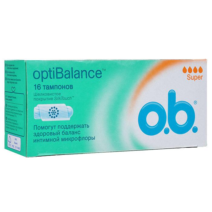 O.B. Тампоны OptiBalance Super, 16 шт70304Тампоны O.B. OptiBalance Super объединяют технологию спиралевидных желобков и покрытие SilkTouch для дополнительного комфорта и надежной защиты. Компонент натурального происхождения GML (Glycerol Monolaurate) помогает поддержать необходимый уровень собственных полезных бактерий (лактобактерий), способствуя сохранению естественного баланса интимной микрофлоры; Тампоны обеспечивают легкое введение и извлечение благодаря уникальному покрытию SilkTouch; Технология спиралевидных желобков FluidLock для более эффективного направления жидкости внутрь тампона. Подходят для средних или интенсивных выделений. Товар сертифицирован.