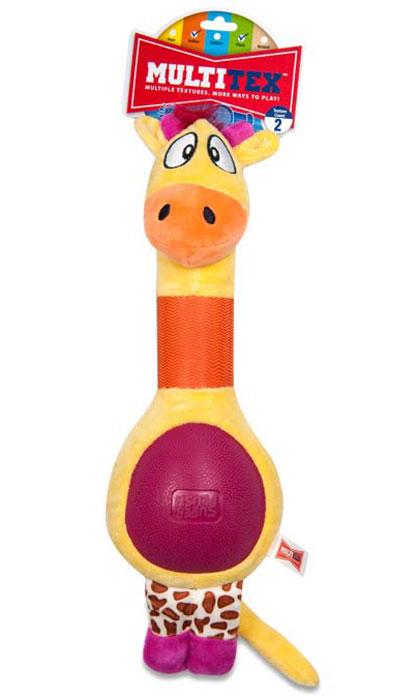 Игрушка плюшевая для собак R2P Pet Multi-tex. Жираф1146Игрушка плюшевая для собак R2P Pet Multi-tex. Жираф - это занимательная игрушка, изготовленная из плюша и резины. Игрушка умеет пищать, выполнена в виде забавного жирафа с прорезиненной шеей и животиком. Наполнитель 100% полиэстер. Размер игрушки: 40 см х 14 см х 7 см.
