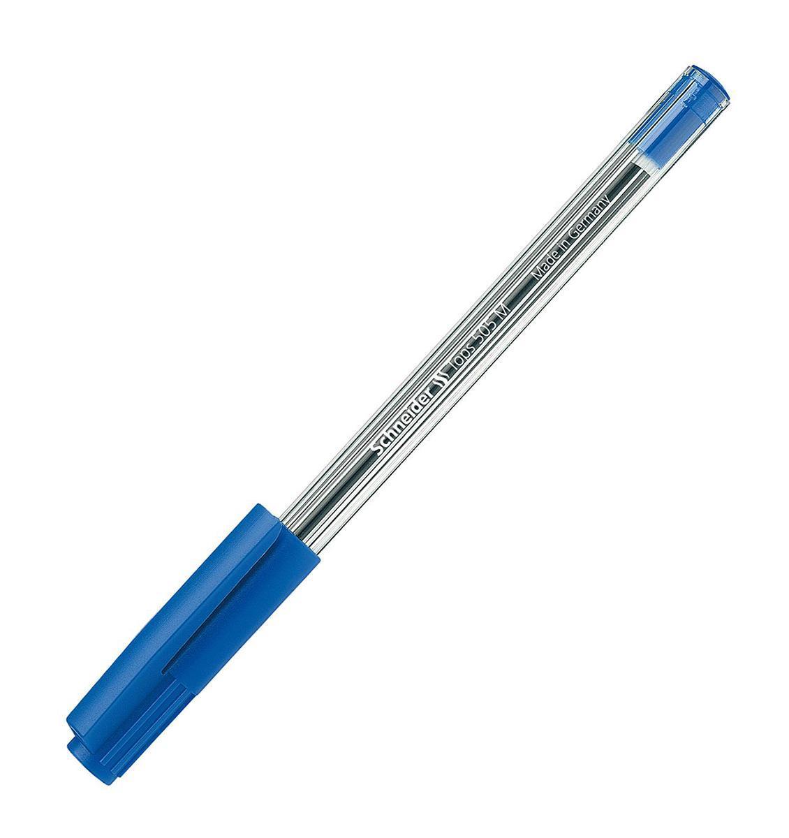 Ручка шариковая TOPS 505, M - 0,5 мм, прозрачный корпус; синий цвет чернил.S506/3 S506-01/3