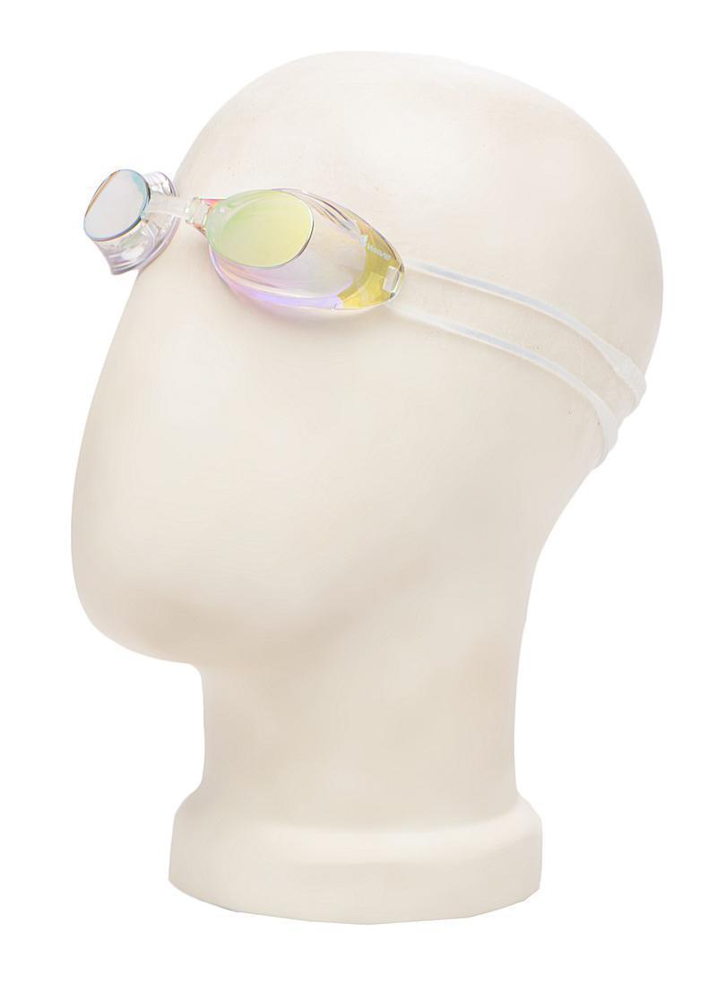 Очки для плавания MadWave Liquid Racing Mirror, цвет: желтыйM0453 02 0 06WСтартовые очки сертифицированные FINA (международная федерация плавания). Двойной силиконовый ремешок для надежной фиксации очков. Очки поставляются в виде набора. Линзы с зеркальным покрытием защищают глаза при плавании на открытой воде и в бассейнах с ярким освещением. Многоступенчатая перемычка позволяет легко настроить очки под нужный размер. Защита от ультрафиолетовых лучей. Антизапотевающие стекла. Линзы из поликарбоната. Вид переносицы - регулируемая многоступенчатая перемычка. Линзы без обтюратора. Характеристики: Материал: силикон, пластик. Размер маски: 16 см х 4 см. Цвет: желтый. Размер упаковки: 11,5 см х 8,5 см х 3,5 см. Артикул: M0453 02 0 06W.