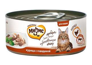 Консервы для кошек Мнямс, с курицей и говядиной, 70 г0120710Консервы для котят Мнямс состоят исключительно из отборных натуральныхкомпонентов и не содержат сою, искусственные красители и усилители вкуса. В процессепроизводства консервов используется только отборное парное и охлажденное, а незамороженное сырье. Консервы из курицы изготовлены изнежного белого мяса куриных грудок с добавлением говядины.Состав: курица (45,5%), говядиной (4,5%), рис (1%), вода, каррагинан.Аналитический состав: белок 12,36%, жир 0,5%, клетчатка 0,004%, зола 0,8%, влажность82,99%.Вес: 70 г.Товар сертифицирован.