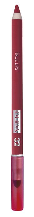 PUPA Карандаш для губ с аппликатором True Lips Pencil тон №32 клубничный красный, 1.2 гCRS-80273547Контурный карандаш для губ с аппликатором для растушёвки True Lips очерчивает губы, придавая им контур, с помощью яркого насыщенного цвета. Мягкая, пластичная и очень приятная текстура позволяет идеально прорисовывать контур губ. Очень легко наносится и даёт возможность двойного применения:- самостоятельное использование карандаша на всей поверхности губ для создания изысканного матового эффекта.- применение карандаша перед нанесением помады для увеличения её стойкости. Цветовая гамма состоит из 16 восхитительных оттенков, которые идеально подходят для одновременного применения с помадами Im.
