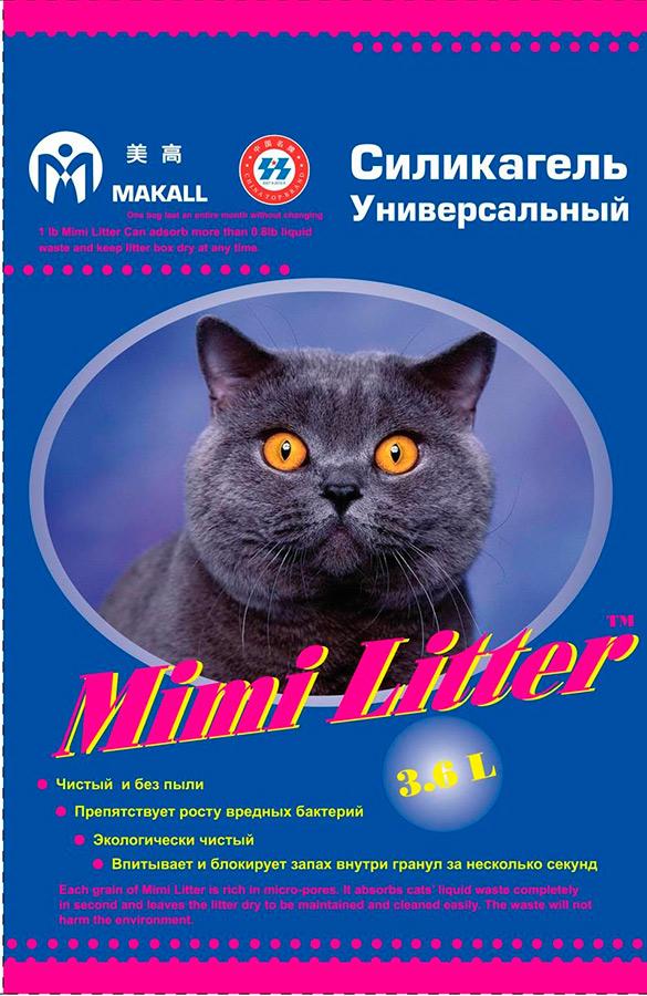 Наполнитель для кошачьего туалета Mimi Litter, силикагелевый, 3,6 кг54781Наполнитель для кошачьего туалета Mimi Litter - силикагелевый наполнитель с высокой степенью влагопоглощения. Способен впитывать урину кошки мгновенно, сохраняя туалет вашей всегда сухим и чистым. Не прилипает к шерсти и лапам вашего питомца. Вы не найдете больше мокрых следов вашего любимца вне туалета. Не образует пыли. Наполнитель препятствует росту вредных бактерий. Он блокирует запах внутри гранул за несколько секунд с помощью микропор, находящихся в гранулах и затем испаряет чистую влагу, позволяя наполнителю оставаться сухим. Состав: диоксид кремния. Вес: 3,6 кг.