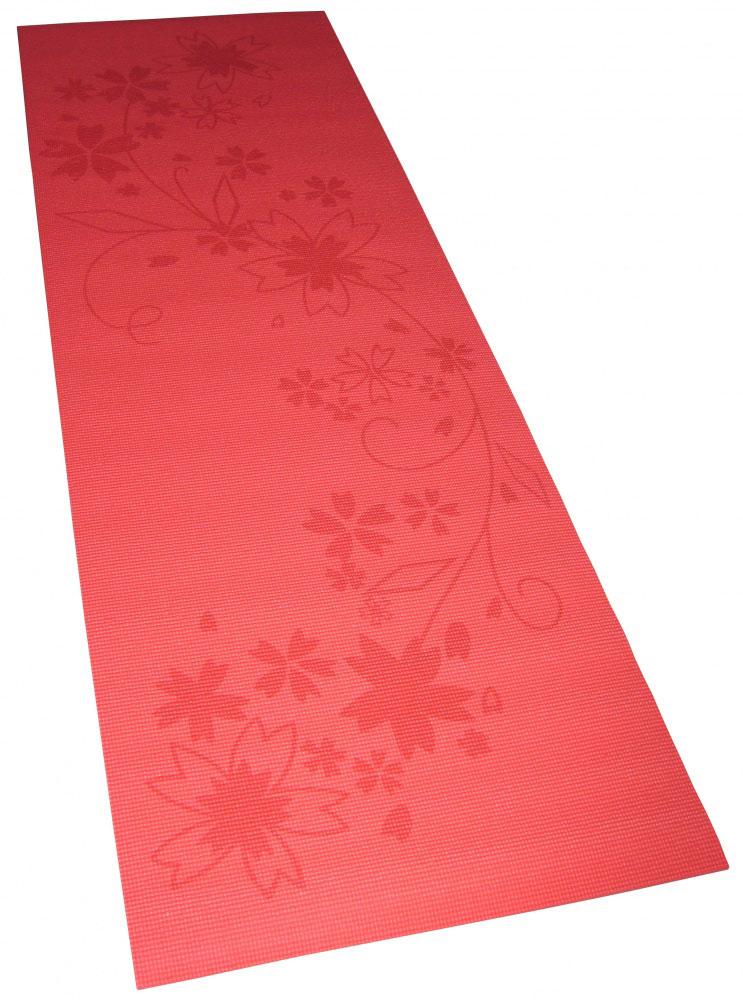 Коврик для фитнеса и йоги Alonsa, с чехлом, цвет: красный с принтом, 180 см х 60 см х 0,8 см260401Коврик Alonsa предназначен для выполнения гимнастических упражнений и занятий йогой. Материал повышенной эластичности способствует более комфортному проведению занятий. Специальная обработка материала Antislick, предотвращающая скольжение.