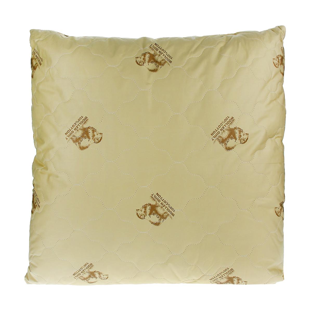 Подушка Овечка, цвет: темно-бежевый, 68 х 68 см2908-68-07 темно-бежевый