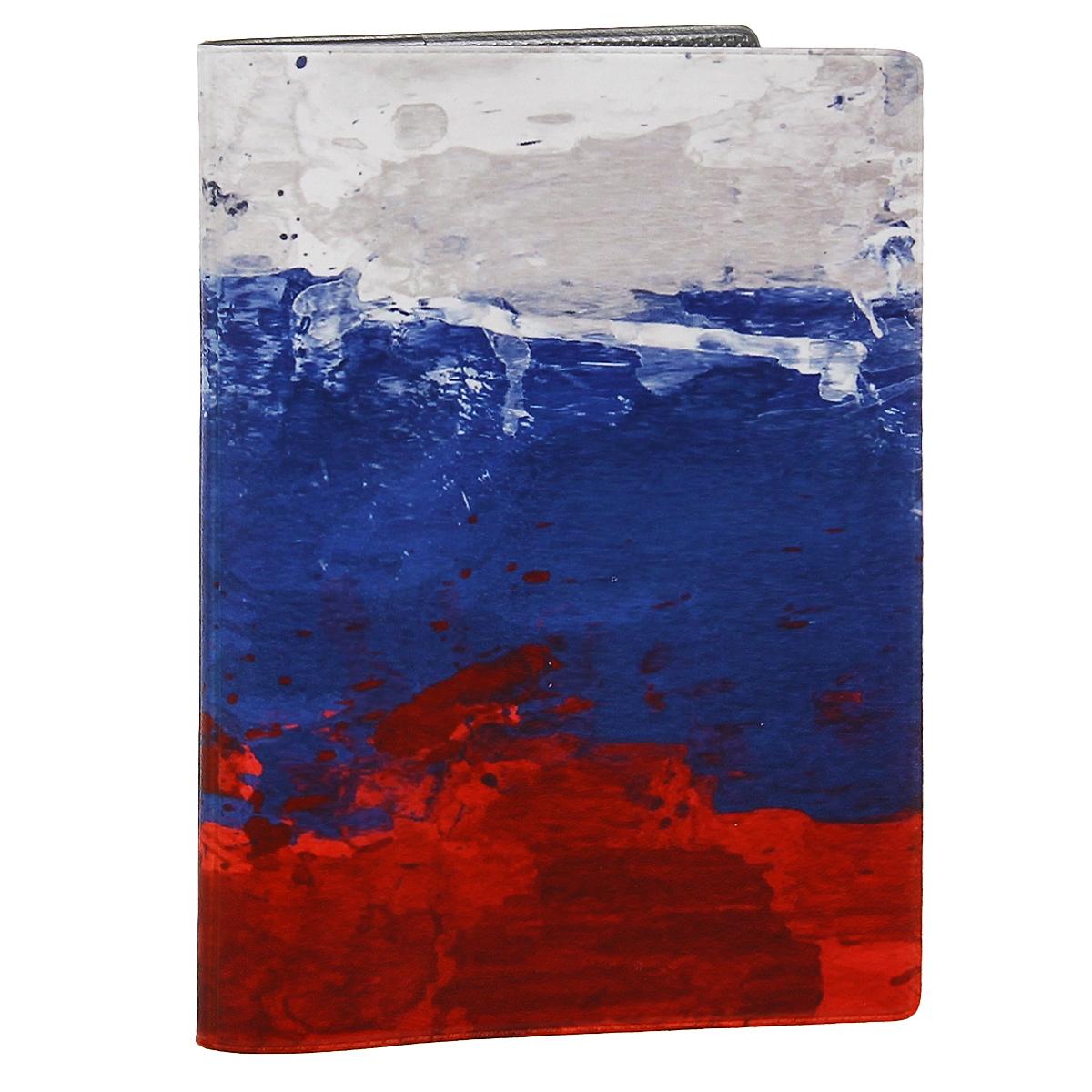 Обложка для автодокументов Флаг Российской Федерации. AUTOZAM293AUTOZAM293Обложка для автодокументов Mitya Veselkov Флаг Российской Федерации изготовлена из прочного ПВХ и стилизована под нарисованный красками флаг Российской Федерации. На внутреннем развороте имеются съемный блок из шести прозрачных файлов из мягкого пластика для водительских документов, один из которых формата А5, а также два боковых кармашка для визиток или банковских карт. Стильная обложка не только поможет сохранить внешний вид ваших документов и защитит их от грязи и пыли, но и станет аксессуаром, который подчеркнет вашу яркую индивидуальность.