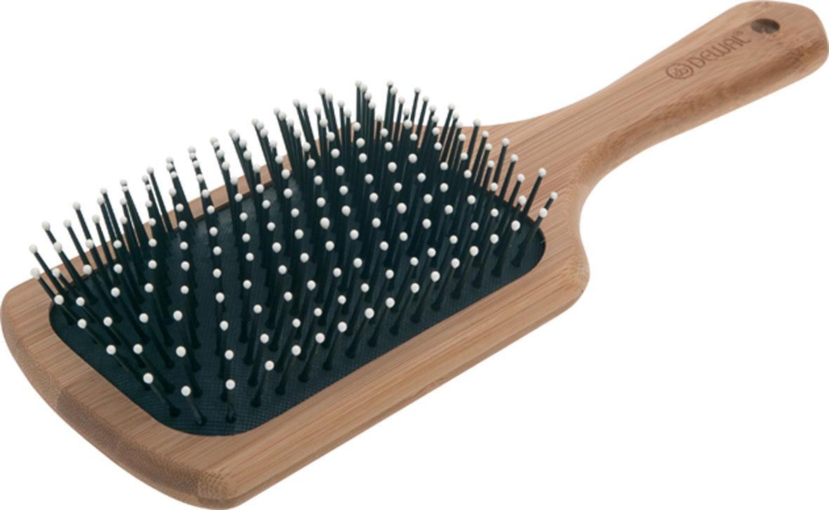 Dewal Расческа массажная Bamboo, с пластиковыми зубцами. BRBAM6993BBRBAM6993BВ ассортименте торговой марки Dewal (Деваль) имеются расчески на все случаи жизни, с помощью которых можно выполнять стрижки, укладки, модельные причёски и другие манипуляции с волосами. Вообще расческа для волос считается для парикмахера самым простым, но при этом незаменимым инструментом. Массажная щетка с пластиковыми зубцами, облегченная, водостойкая и антибактериальная ручка из дерева бамбука идеальна для расчесывания волос. Продуманная конструкция, эргономичный дизайн обеспечивают комфортную работу парикмахера. Расчёски с лёгкостью скользят по волосам, удобно ложатся в руку. Товар сертифицирован.