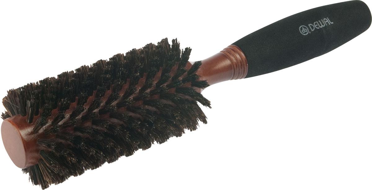 Dewal Расческа круглая, с натуральной щетиной и мягкой ручкой. BRWC603BRWC603В ассортименте торговой марки Dewal (Деваль) имеются расчески на все случаи жизни, с помощью которых можно выполнять стрижки, укладки, модельные причёски и другие манипуляции с волосами. Вообще расческа для волос считается для парикмахера самым простым, но при этом незаменимым инструментом. Брашинг круглой формы скомбинированной щетиной (натуральная щетина + пластиковый штифт) обеспечивает более идеальное вытягивание волос (также для выпрямления вьющихся волос), эргономичная ручка создает дополнительное удобство при формировании прически. Не продувная. Продуманная конструкция, эргономичный дизайн обеспечивают комфортную работу парикмахера. Расчёски с лёгкостью скользят по волосам, удобно ложатся в руку. Диаметр расчески (без учета щетины): 25 мм. Диаметр расчески (с учетом щетины): 45 мм. Товар сертифицирован.