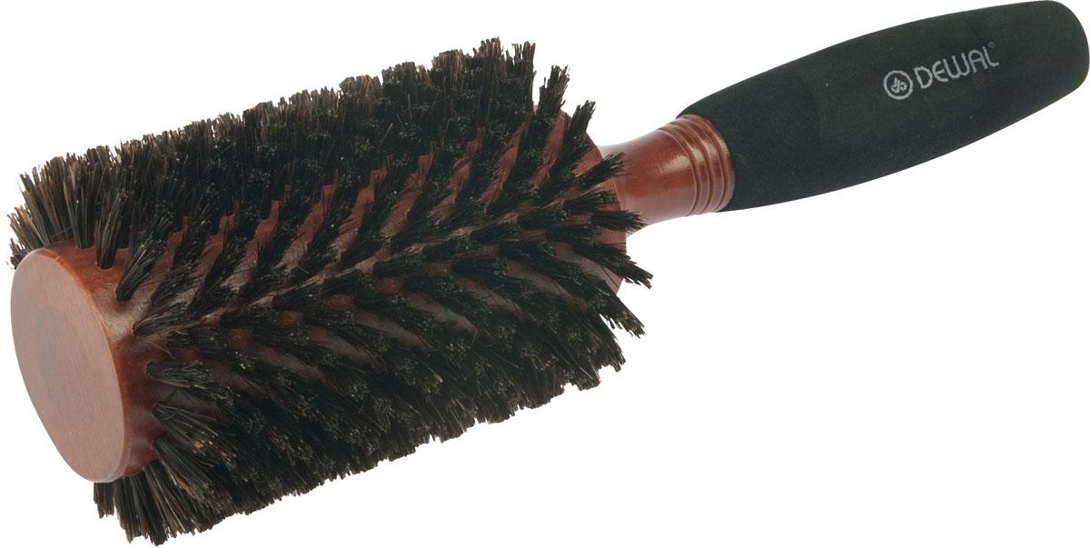 Dewal Расческа круглая деревянная с натуральной щетиной. BRWC605CWB 665В ассортименте торговой марки Dewal имеются расчески на все случаи жизни, с помощью которых можно выполнять стрижки, укладки, модельные причёски и другие манипуляции с волосами. Вообще расческа для волос считается для парикмахера самым простым, но при этом незаменимым инструментом. Брашинг круглой формы с натуральной щетиной идеален для выпрямления волос (также для выпрямления вьющихся волос), облегченная мягкая ручка создает дополнительное удобство при формировании прически. Не продувная. Продуманная конструкция, эргономичный дизайн обеспечивают комфортную работу парикмахера. Расчёски с лёгкостью скользят по волосам, удобно ложатся в руку. Товар сертифицирован.
