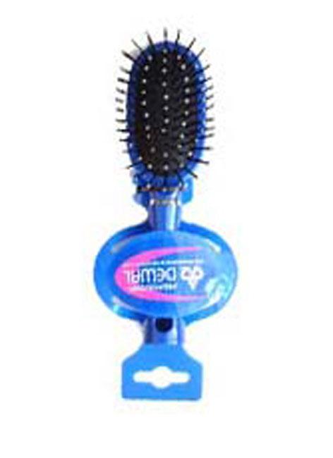 Dewal Расческа массажная, с пластиковыми зубцами. DW9555P1-H2P BLUE