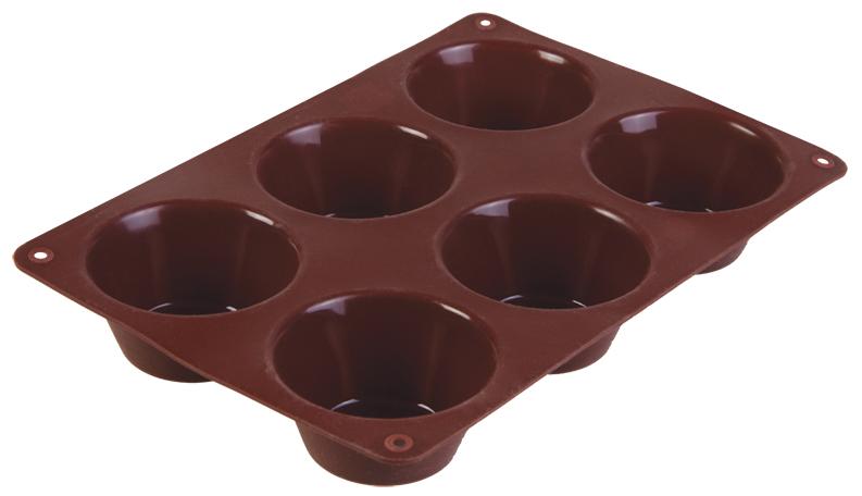 """Форма для выпечки маффинов """"Taller"""", цвет: коричневый, 6 ячеек TR-6200"""