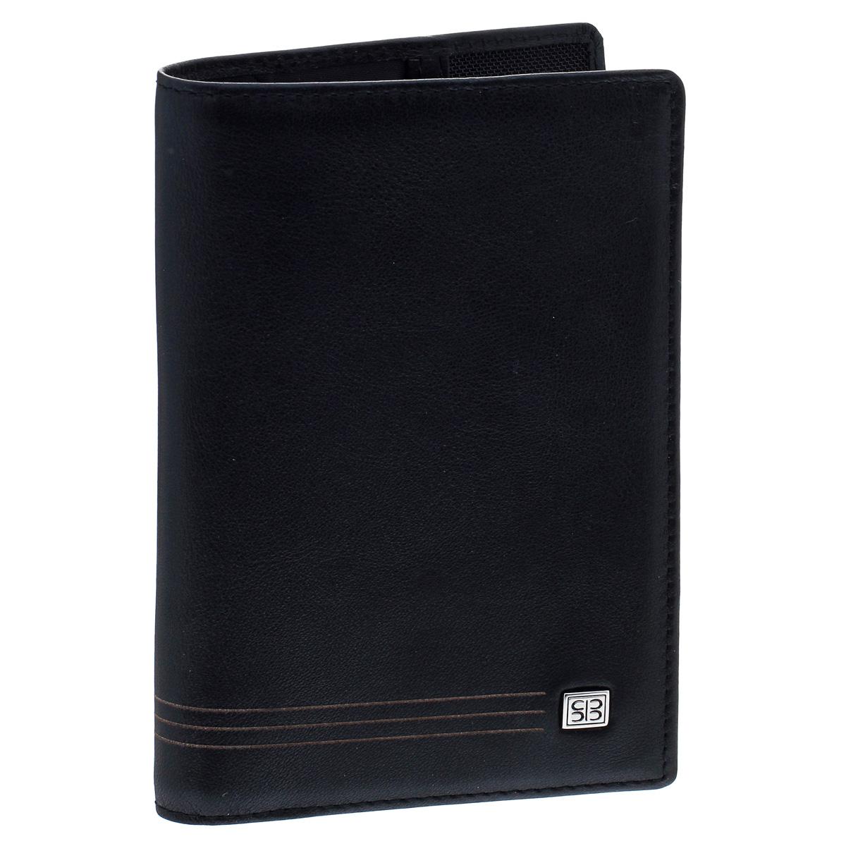Обложка для паспорта Sergio Belotti, цвет: черный. 2464 west2464 westИзысканная обложка для паспорта Sergio Belotti выполнена из натуральной высококачественной кожи. На лицевой стороне изделие оформлено металлической пластиной с гравировкой в виде логотипа бренда, на внутренней стороне - тисненым названием бренда. Внутри расположены карман-уголок с кармашком для кредитной карты и кармашком для sim-карты и один карман с окошком из прозрачного пластика). Изделие упаковано в фирменную коробку. Модная обложка для паспорта не только поможет сохранить внешний вид вашего документа и защитить его от повреждений, но и станет стильным аксессуаром, который прекрасно дополнит ваш образ.