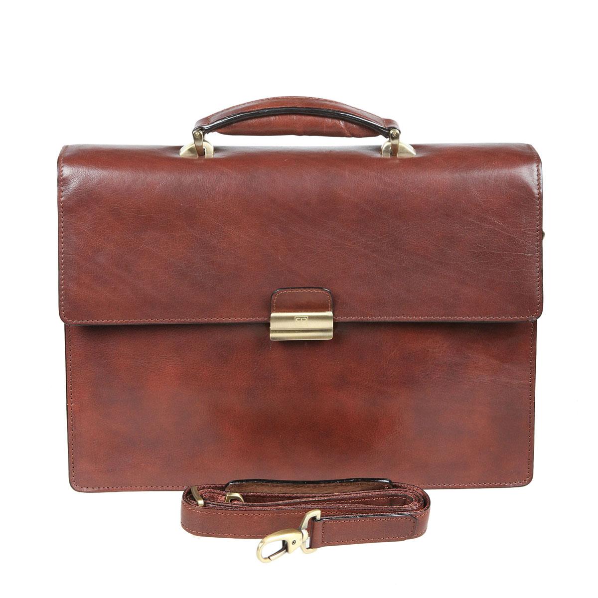 """Портфель мужской """"Sergio Belotti"""", цвет: коричневый. 8740 8740 milano brown"""