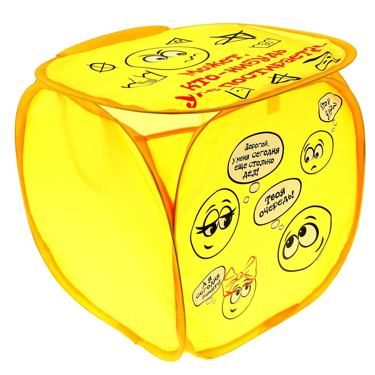 Корзина для белья Sima-land Может кто-нибудь постирает?, цвет: желтый, 35 х 35 см 35 см634808Корзина для белья Sima-land Может кто-нибудь постирает? изготовлена из текстиля. Материал легкий, обеспечивает вентиляцию белья. Удобная, практичная и оригинальная корзина для белья декорирована изображением забавных комиксов и предназначена для сбора и хранения вещей перед стиркой. Вместительная корзина выполнена в форме куба. Сверху имеются ручки для переноски и крышка. Корзина для белья Sima-land Может кто-нибудь постирает? станет оригинальным украшением интерьера ванной комнаты.