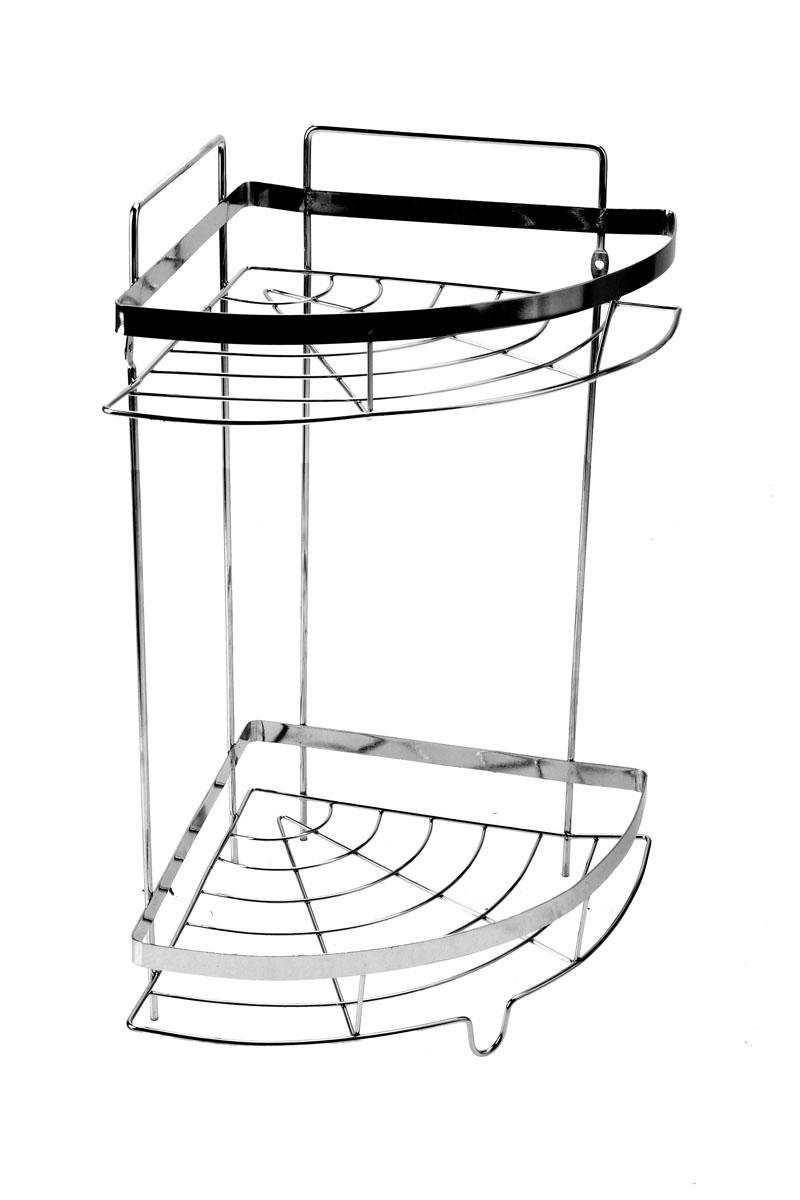 Полка угловая Доляна, 2-х ярусная, высота 35 см647838Полка Доляна выполнена из высококачественного металла и предназначена для хранения вещей в ванной комнате. Полка угловая и состоит из 2-х ярусов одинакового размера с бортиком по краю. Она пригодится для хранения различных предметов, которые всегда будут под рукой. Благодаря компактным размерам полка впишется в интерьер вашего дома и позволит вам удобно и практично хранить предметы домашнего обихода. Удобная и практичная металлическая полочка станет незаменимым аксессуаром в вашем хозяйстве. Высота полки: 35 см. Размер яруса: 21 см х 21 см. Расстояние между ярусами: 23,5 см.