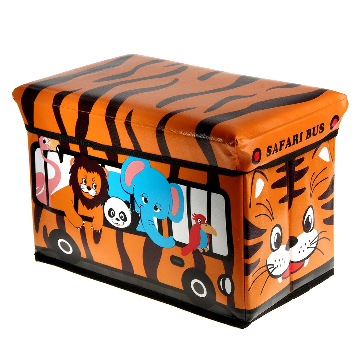Коробка для хранения Sima-land Полосатый рейс, цвет: оранжевый, 40 см х 25 см х 25 см847057Коробка для хранения Sima-land Полосатый рейс изготовлена из искусственной кожи и картона. Коробка имеет съемную, мягкую крышку. Материал коробки позволяет сохранять естественную вентиляцию, а воздуху свободно проникать внутрь, не пропуская пыль. Благодаря специальным вставкам, коробка прекрасно держит форму, что позволяет ее использовать как дополнительное посадочное место для ребенка. Эстетичный дизайн коробки понравиться вашему ребенку. Компактные габариты коробки не загромождают помещение. Коробку можно хранить в обычном шкафу. Внутренняя емкость позволяет хранить внутри игрушки, книжки и прочие предметы. Мобильность конструкции обеспечивает складывание и раскладывание одним движением. Коробка Sima-land Полосатый рейс поможет хранить игрушки все в одном месте, а также защитить их от пыли, грязи и влаги. Размер коробки: 40 см х 25 см х 25 см.