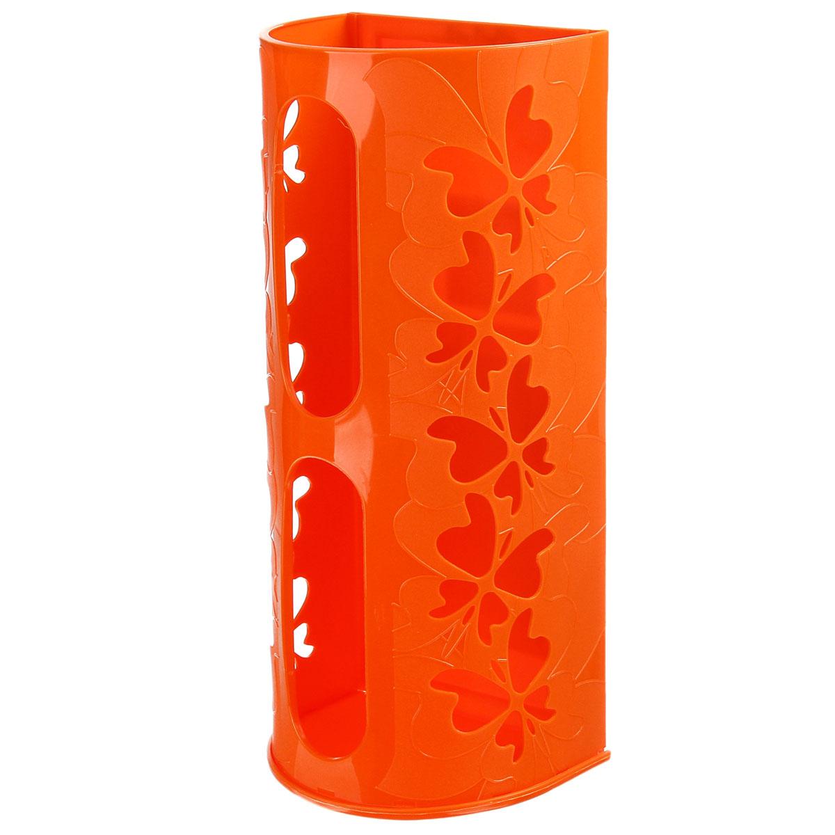 Корзина для пакетов Berossi Fly, цвет: оранжевый868660Корзина для пакетов Berossi Fly, изготовлена из высококачественного пластика. Эта практичная корзина наведет порядок в кладовке или кухонном шкафу и позволит хранить пластиковые пакеты или хозяйственные сумочки во всегда доступном месте! Изделие декорировано резным изображением бабочек. Корзина просто подвешивается на дверь шкафчика изнутри или снаружи, в зависимости от назначения. Корзина для пакетов Berossi Fly будет замечательным подарком для поддержания чистоты и порядка. Она сэкономит место, гармонично впишется в интерьер и будет радовать вас уникальным дизайном.