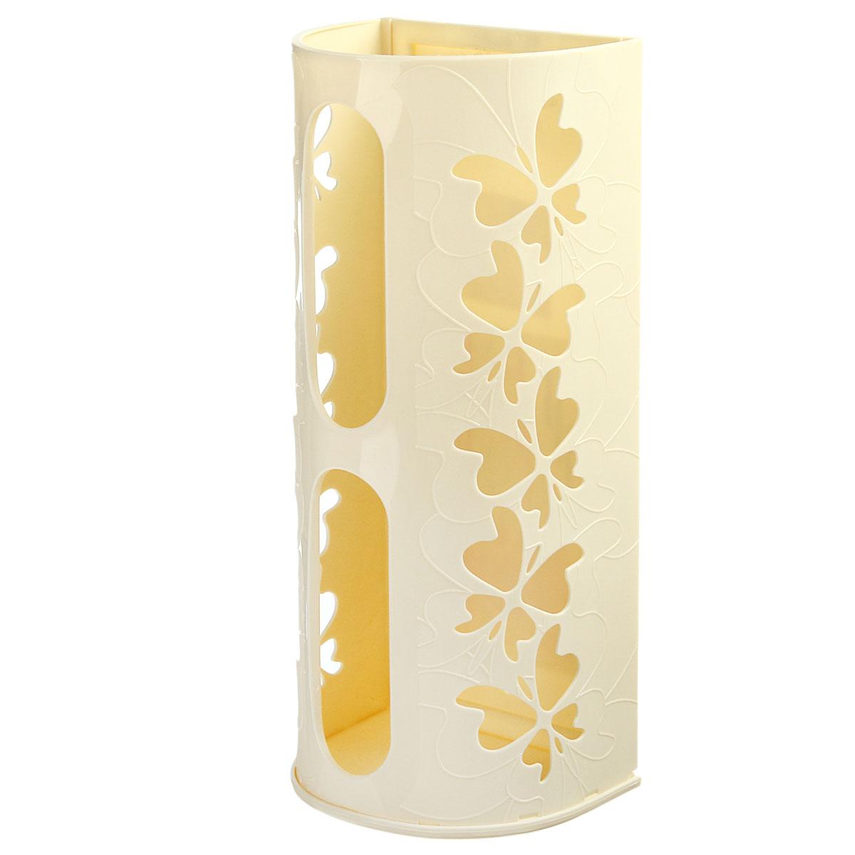 Корзина для пакетов Berossi Fly, цвет: слоновая кость868662Корзина для пакетов Berossi Fly, изготовлена из высококачественного пластика. Эта практичная корзина наведет порядок в кладовке или кухонном шкафу и позволит хранить пластиковые пакеты или хозяйственные сумочки во всегда доступном месте! Изделие декорировано резным изображением бабочек. Корзина просто подвешивается на дверь шкафчика изнутри или снаружи, в зависимости от назначения. Корзина для пакетов Berossi Fly будет замечательным подарком для поддержания чистоты и порядка. Она сэкономит место, гармонично впишется в интерьер и будет радовать вас уникальным дизайном.