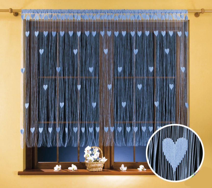 Гардина-лапша Wisan Walentynka, цвет: голубой, 270 х 150 см9918 голубойГардина-лапша Wisan Walentynka, изготовленная из полиэстера и украшенная сердечками, станет прекрасным дополнением интерьера комнаты. Яркий дизайн и нежная цветовая гамма привлекут к себе внимание и органично впишутся в интерьер комнаты. Оригинальное оформление гардины внесет разнообразие и подарит заряд положительного настроения. Гардина оснащена кулиской для крепления на круглый карниз.