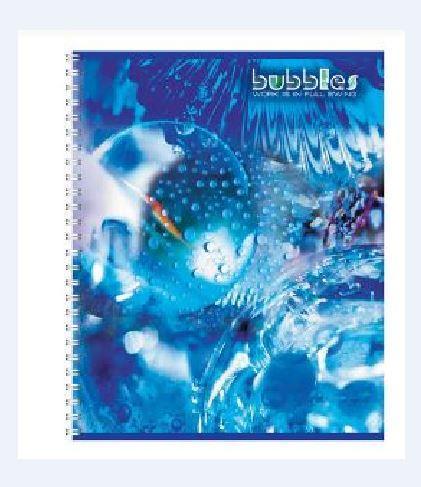 Полиграфика Тетрадь на спирали, 96л Bubbles35648Обложка:картон мелованный 170 г/м2. Блок: бумага офсетная 55 г/м2