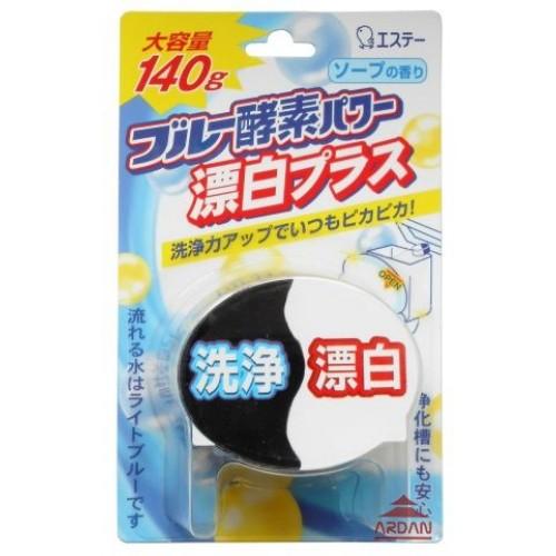 Очищающая таблетка ST Blue Enzyme Power для бачка унитаза, 140 г114542Кислородная таблетка для очищения и дезинфекции унитаза с отбеливателем.Благодаря сочетанию отбеливающих компонентов и кислорода, входящего в состав синего реагента, средство обладает двойной силой. Создает ощущение чистоты и свежести, распространяя аромат косметического мыла и окрашивая воду в светло-голубой цвет.140 гр.
