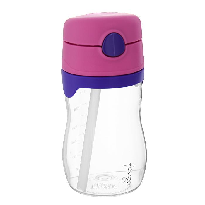 """Thermos Поильник Phases """"Foogo"""" с трубочкой, цвет: розовый, сиреневый, 325 мл 109958"""