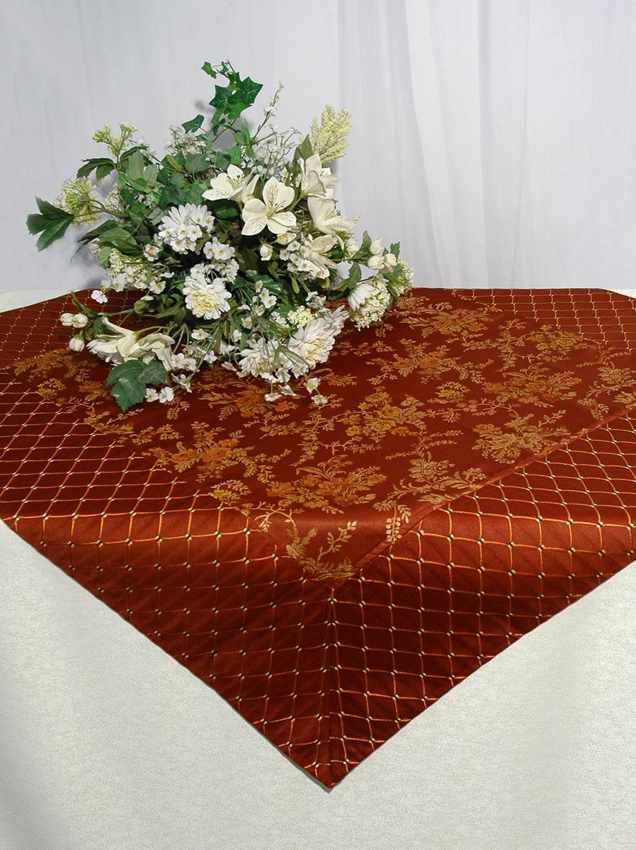 Скатерть Schaefer, квадратная, цвет: коричневый, 100x 100 см. 06033-102Z-0307Скатерть Schaefer изготовлена из полиэстера и вискозы. Она украшена красивым цветочным орнаментом.Изделия из полиэстера легко стирать: они не мнутся, не садятся и быстро сохнут, они более долговечны, чем изделия из натуральных волокон. Кроме того, ткань обладает водоотталкивающими свойствами. Такая скатерть будет просто не заменима на кухне, а особенно на вашем обеденном столе на даче под открытым небом. Скатерть Schaefer не останется без внимания ваших гостей, а вас будет ежедневно радовать ярким дизайном и несравненным качеством.Немецкая компания Schaefer создана в 1921 году. На протяжении всего времени существования она создает уникальные коллекции домашнего текстиля для гостиных, спален, кухонь и ванных комнат. Дизайнерские идеи немецких художников компании Schaefer воплощаются в текстильных изделиях, которые сделают ваш дом красивее и уютнее и не останутся незамеченными вашими гостями. Дарите себе и близким красоту каждый день! Изысканный текстиль от немецкой компании Schaefer - это красота, стиль и уют в вашем доме.