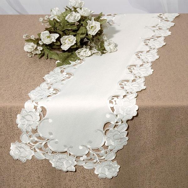 Дорожка для декорирования стола Schaefer, прямоугольная, цвет: белый, 30 x 160 см06487-212Дорожка 30*160см, 100% полиэстер Изысканный текстиль от немецкой компании Schaefer – это красота, стиль и уют в вашем доме. Дорожка послужит прекрасным декором, как для гостиной, так и для кухни, идеально подойдет для любого интерьера и события от домашних завтраков до романтического ужина. Дарите себе и близким красоту каждый день! Изделие легко стирать и гладить, не требует специального ухода.