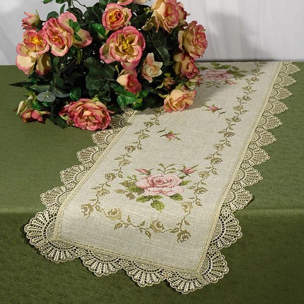 Дорожка для декорирования стола Schaefer, прямоугольная, цвет: бежевый, розовый, 40 x 100 см 07228-20207228-202Прямоугольная дорожка Schaefer, выполненная из полиэстера (85%) с добавлением льна (15%) и украшенная вышивкой в виде цветов, предназначена для декорирования стола, комода или тумбы. По краям дорожка оформлена кружевом. Изысканное оформление изделия придает ему необыкновенную легкость. Благодаря такой дорожке вы защитите поверхность мебели от воды, пятен и механических воздействий, а также создадите атмосферу уюта и домашнего тепла в интерьере вашей квартиры. Изделия из искусственных волокон легко стирать: они не мнутся, не садятся и быстро сохнут, они более долговечны, чем изделия из натуральных волокон.