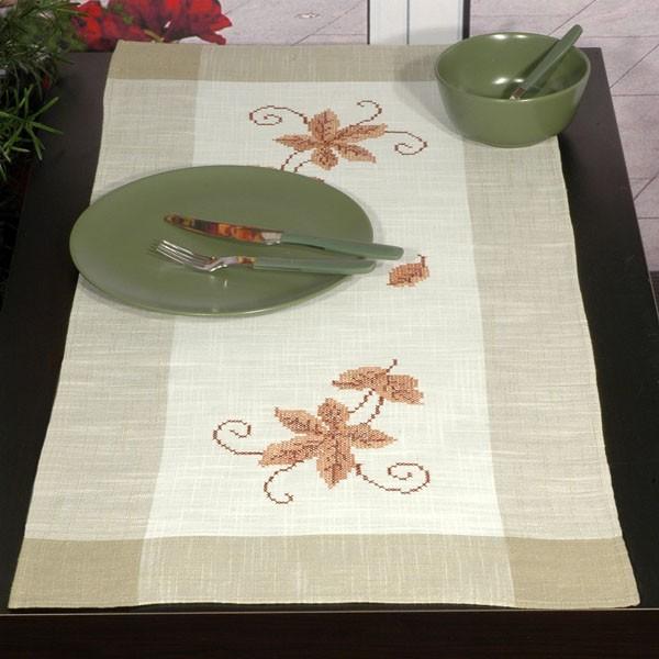 Дорожка для декорирования стола Schaefer, прямоугольная, цвет: серый, белый, 40 x 90 см 6030/274 блузки lo блузка