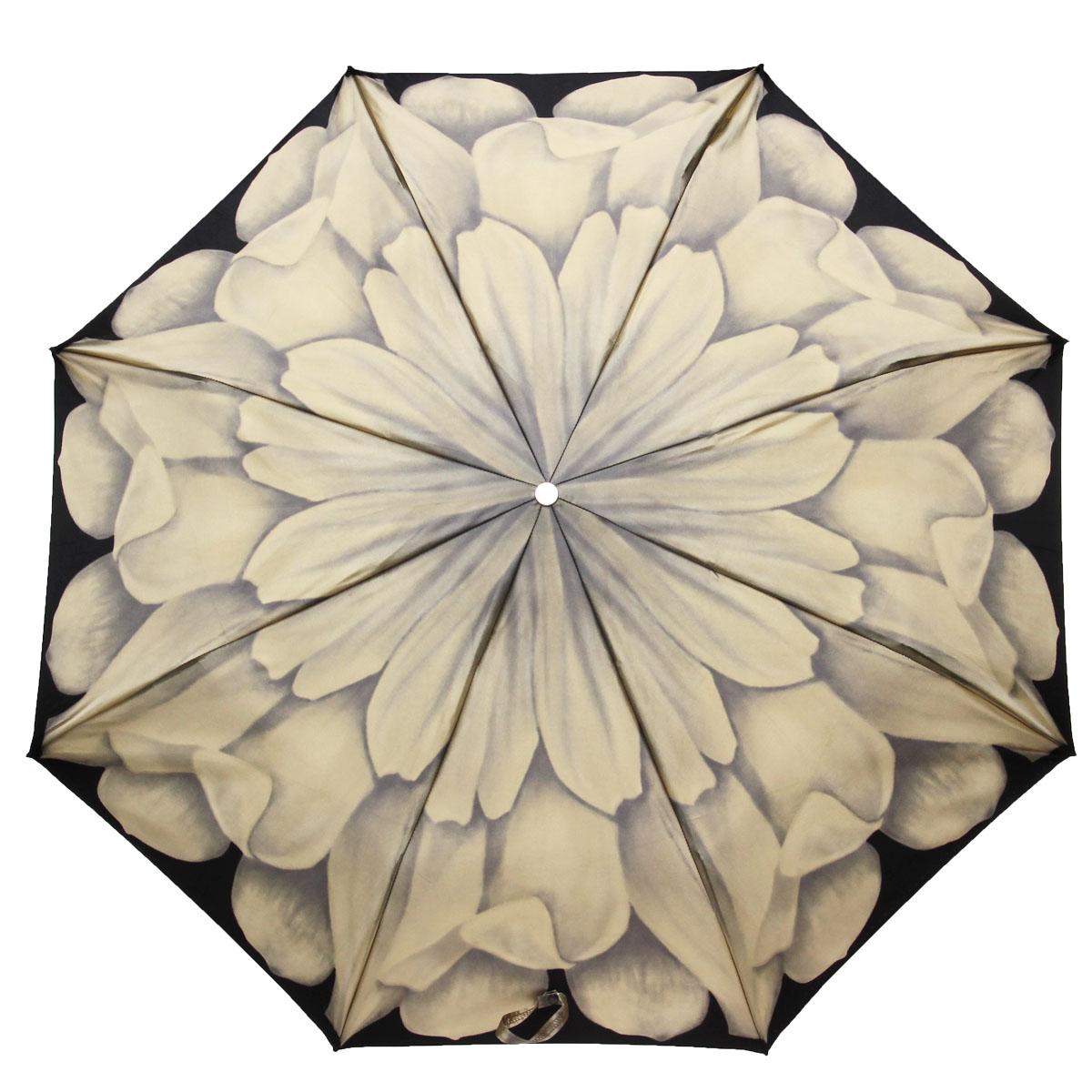 Зонт жеский Pasotti, механический, 3 сложения, черный, серый257-21065-48-A28Стильный механический зонт Pasotti даже в ненастную погоду позволит вам оставаться стильной и элегантной. Фигурная рукоятка выполнена из металла и украшена резным орнаментом и стразой. Каркас зонта состоит из восьми металлических спиц. Зонт имеет механический механизм сложения: купол открывается и закрывается вручную до характерного щелчка. Купол зонта выполнен из прочного сатина и оформлен изображением цветка. Закрытый купол фиксируется хлястиком на кнопку. Компактные размеры зонта в сложенном виде позволят ему без труда поместиться в сумочке и не доставят никаких проблем во время переноски. На рукоятке для удобства есть металлическая цепочка, позволяющая надеть зонт на руку тогда, когда это будет необходимо. К зонту прилагается чехол.