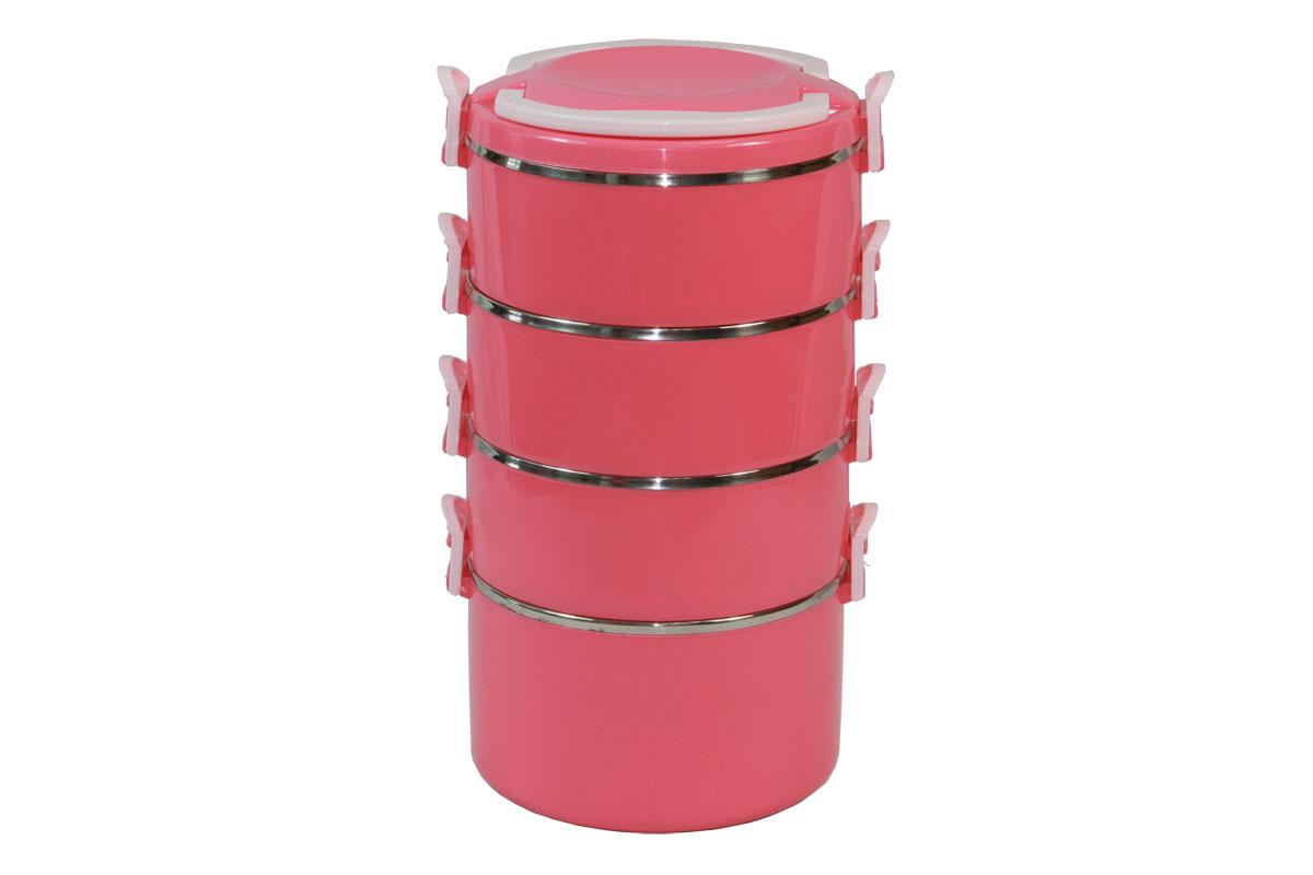 Набор термоконтейнеров Bekker Koch, цвет: розовый, 4 предметаVT-1520(SR)Набор Bekker Koch состоит из 4 термоконтейнеров, предназначенных для хранения пищевых продуктов. Термоконтейнеры, располагающиеся друг над другом, снаружи выполнены из качественного пластика, внутри - из нержавеющей стали. Стальные стенки термоконтейнеров обеспечивают длительное сохранение температуры содержимого. Пластиковая крышка с ручками обеспечивает герметичность хранения продуктов. Не подходит для использования в посудомоечной машине. Не использовать абразивные чистящие средства.Набор термоконтейнеров Bekker Koch идеально подойдет для поездок, похода, активного отдыха.Объем маленького термоконтейнера: 600 мл.Диаметр маленького термоконтейнера (по верхнему краю): 15 см.Высота стенки маленького термоконтейнера: 6 см.Объем большого термоконтейнера: 1000 мл.Диаметр большого термоконтейнера (по верхнему краю): 15,5 см.Высота стенки большого термоконтейнера: 9 см.Общий размер конструкции: 17,5 см х 16 см х 29 см.