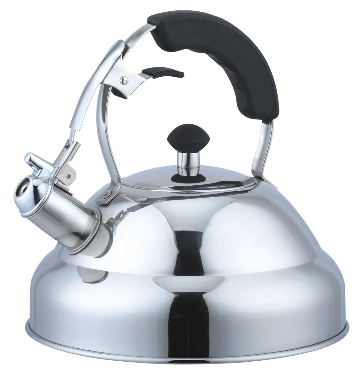 Чайник Bekker Koch со свистком, 3 л. BK-S453BK-S453Чайник Bekker Koch изготовлен из высококачественной нержавеющей стали 18/10 с зеркальной полировкой. Цельнометаллическое дно распределяет тепло по всей поверхности, что позволяет чайнику быстро закипать. Эргономичная фиксированная ручка выполнена из нержавеющей стали с силиконовым покрытием черного цвета. Носик оснащен откидным свистком, который подскажет, когда вода закипела. Свисток открывается и закрывается нажатием рычага на рукоятке. Широкое отверстие по верхнему краю позволяет удобно наливать воду. Подходит для всех типов плит, включая индукционные. Можно мыть в посудомоечной машине.