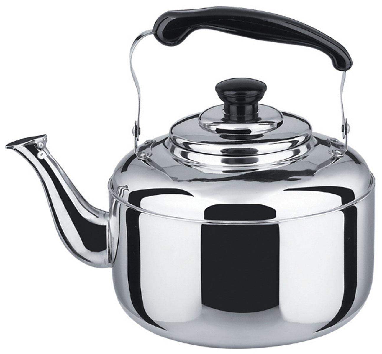 Чайник Bekker Koch со свистком, 2 л. BK-S485VT-1520(SR)Чайник Bekker Koch изготовлен из высококачественной нержавеющей стали с зеркальной полировкой. Цельнометаллическое дно распределяет тепло по всей поверхности, что позволяет чайнику быстро закипать. Эргономичная подвижная ручка выполнена из нержавеющей стали и бакелита черного цвета. Носик оснащен откидным свистком, который подскажет, когда вода закипела. Широкое отверстие по верхнему краю позволяет удобно наливать воду.Подходит для всех типов плит, включая индукционные. Можно мыть в посудомоечной машине.