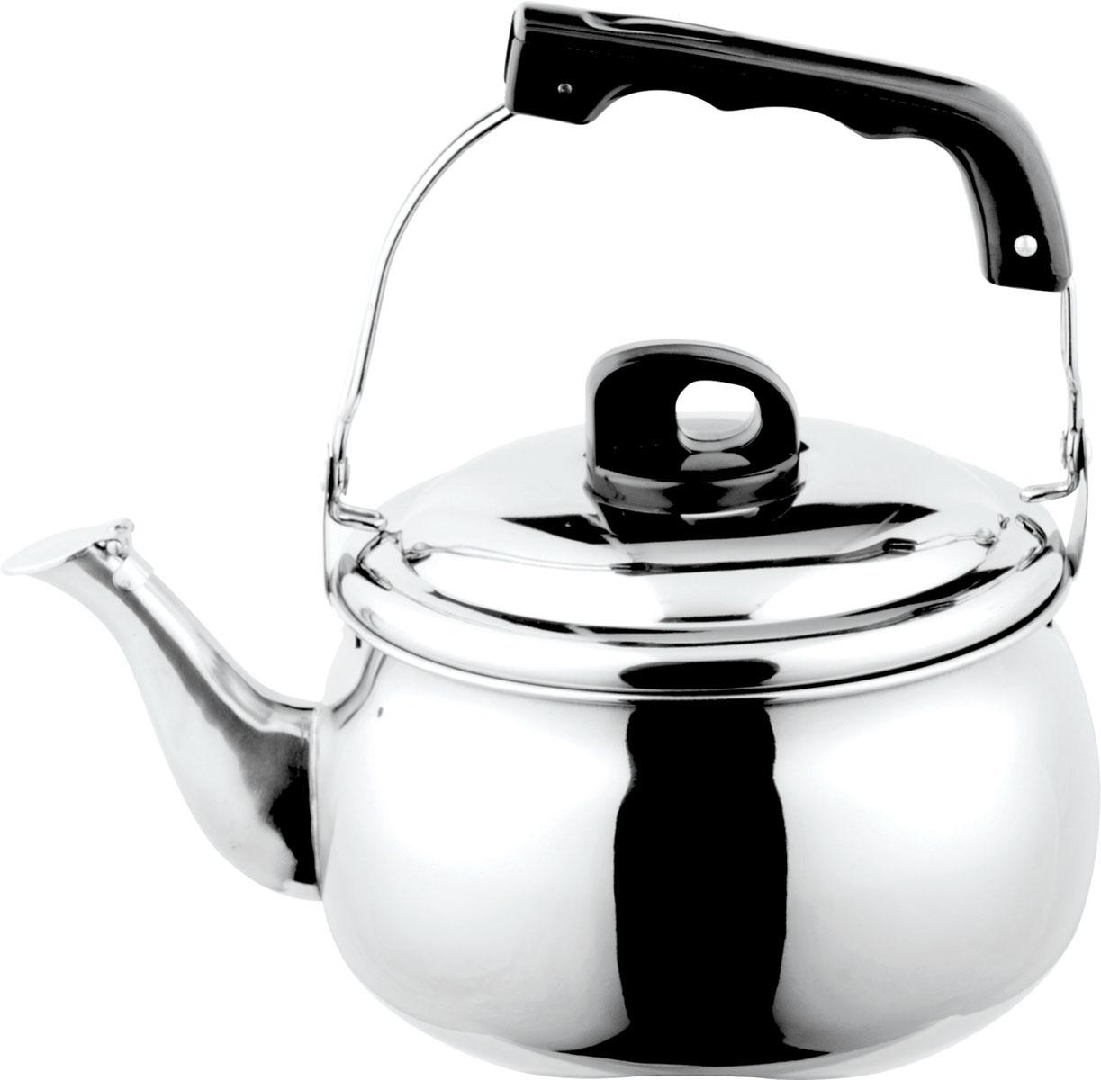 Чайник Bekker, со свистком, 5 лVT-1520(SR)Чайник Bekker выполнен из высококачественной нержавеющей стали, что обеспечивает долговечность использования. Внешнее зеркальное покрытие придает приятный внешний вид. Бакелитовая ручка делает использование чайника очень удобным и безопасным. Цельнометаллическое дно способствует равномерному распространению тепла. Чайник снабжен свистком. Можно мыть в посудомоечной машине. Пригоден для всех видов плит, включая индукционные.