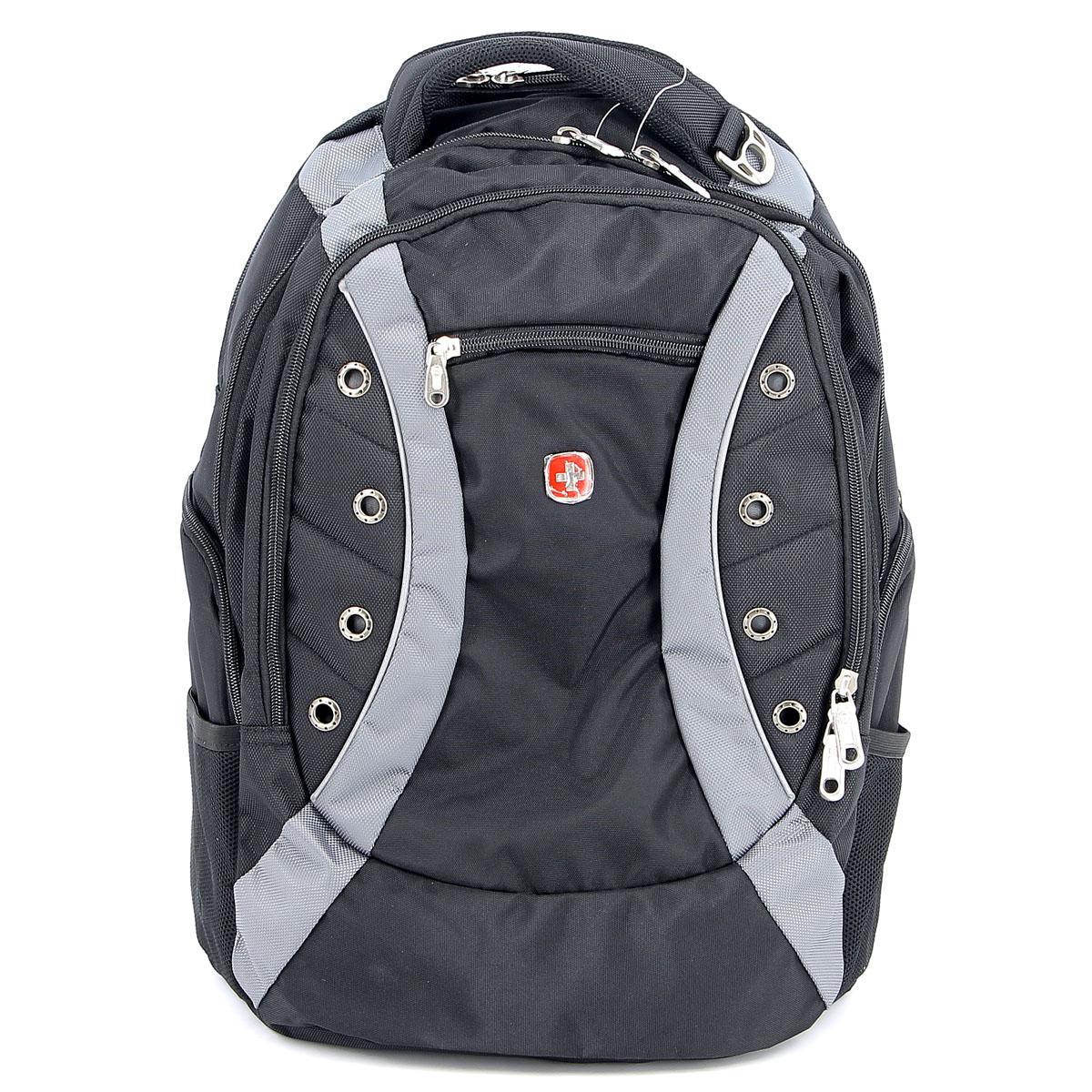Рюкзак Wenger Zoom, цвет: черный, серый, 36 см х 21 см х 47 см, 35 лBP-001 BKРюкзак Wenger Zoom - это самодостаточный, многофункциональный и надежный спутник своего владельца, как и знаменитый швейцарский нож! Благодаря многофункциональности рюкзака Wenger, вы можете легко организовать свои вещи, отправив ключи, мобильный телефон и еще тысячу мелочей в специальный карман-органайзер, положив ноутбук в надежный мягкий карман под спинкой. После этого останется еще много места для других необходимых вещей. Рюкзаки и сумки Wenger - это прежде всего современные материалы и фурнитура от надежных поставщиков и швейцарский контроль качества, благодаря которому репутация компании была и остается столь высокой. Продуманная конструкция и современные технологии проявляются главным образом в потрясающей надежности рюкзаков и сумок Wenger. А ведь надежность - самое важное качество и в амуниции, и в людях! Особенности рюкзака:Большой объем для хранения: основное отделение предоставляет достаточный объем для папок, электронных игр и других аксессуаров.Мягкое отделение для ноутбука: регулируемый ремень с липучкой может закрепить ноутбуки с размером экрана 15 дюймов. Эластичные сетчатые карманы удобны для аксессуаров.Система циркуляции воздуха: дизайн задней мягкой вставки для спины обеспечивает циркуляцию воздуха для комфорта и максимального удобства. Плечевые ремни: эргономичные ремни анатомической формы разработаны с дополнительным уплотнением для удобства и контроля.Карман для бутылки воды: карман из эластичной сетки удобен для хранения бутылок любого размера. Отверстие для провода наушников: внутренний карман подходит для большинства МР3 плееров с внешним портом для наушников.Карман для мелких предметов: внутренний карман-органайзер включает съемную ключницу и раздельные кармашки для ручек, карандашей, мобильного телефона и CD дисков.Петля для очков: благодаря эластичной петле на плечевом ремне удобно хранить солнцезащитные очки и они легко доступны.По всем вопросам гарантийного 