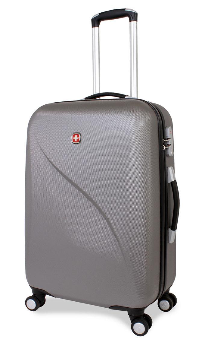 Чемодан SwissGear Evo Lite, цвет: серый, 40 см х 23 см х 60 см, 55 л7201404167Swissgear Evo Lite отличает эргономичность, высокое качество и удобство в использовании. Современный и в то же время строгий дизайн идеально подойдет для деловых командировок и туристических поездок. Изготовленный из прочного поликарбоната корпус надежно сбережет Ваши вещи от повреждений. Легкая управляемость багажом обеспечивается системой 8 колес, способных вращаться на 360 градусов. Особенности: Высокая мобильность и легкость в управлении обеспечивается 8 колесами, вращающимися на 360 градусов. Алюминиевая телескопическая ручка с фиксатором гарантирует исключительное удобство в управлении чемоданом. Цифровой замок с трехзначным кодом TSA надежно обеспечивает безопасность багажа. Мягкие прочные эргономичные ручки с резиновым покрытием Soft-Touch для переноски обладают повышенной прочностью, обеспечивает комфорт,функциональность и долговечность. Регулируемые ремни для фиксации багажа. Чемодан имеет 2 отделения с регулируемыми ремнями для...