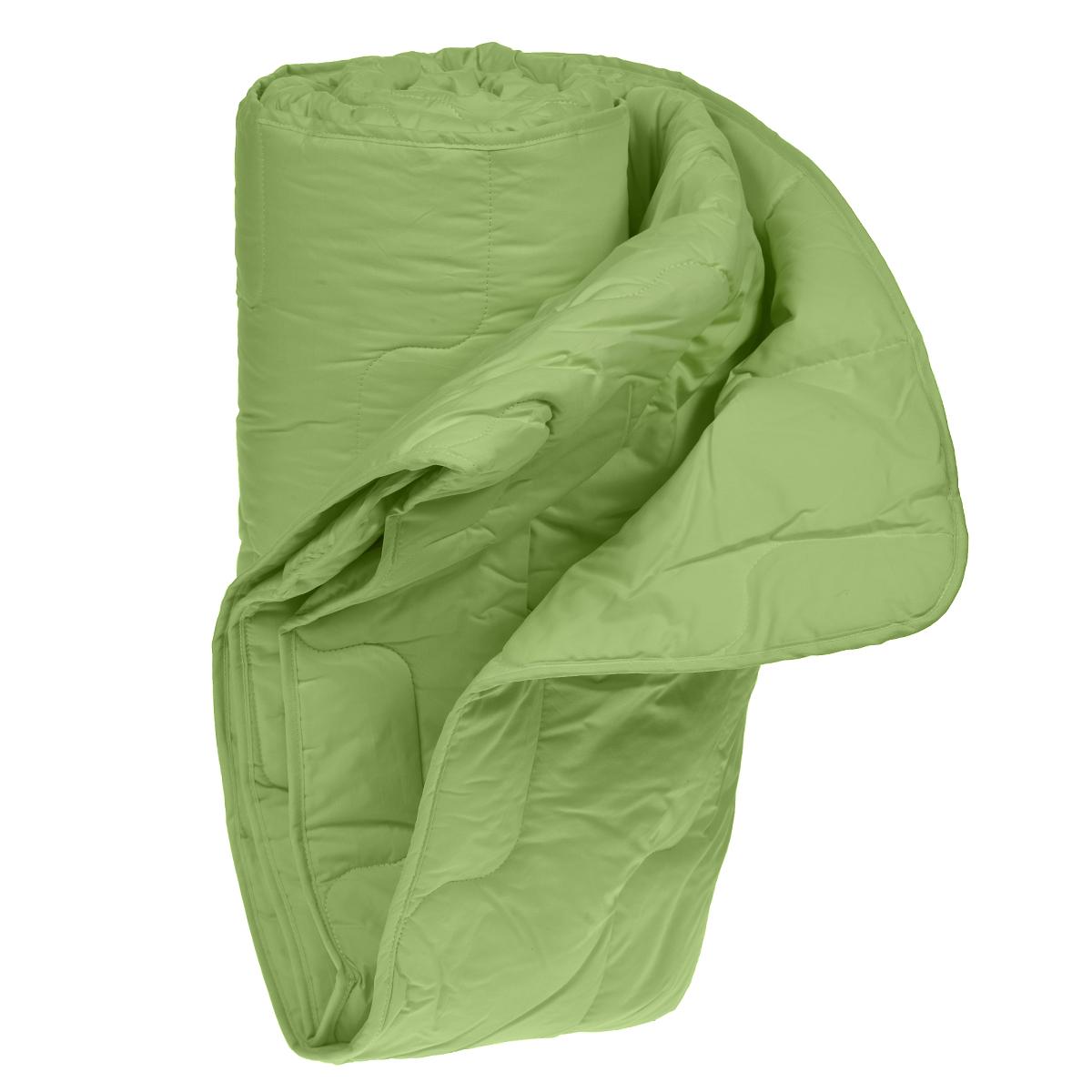 Одеяло облегченное OL-Tex Бамбук, наполнитель: бамбуковое волокно, цвет: фисташковый, 220 х 200 смОБТ-22-2Великолепное облегченное одеяло OL-Tex Бамбук подарит вам ни с чем несравнимую мягкость и комфорт и согреет даже в очень холодное время года. При этом одеяло невероятно легкое. Одеяло из коллекции Бамбук создано с использованием натурального и экологически чистого бамбукового волокна. Чехол одеяла фисташкового цвета выполнен из тика и перкаля, оформлен фигурной стежкой и кантом по краю. Натуральная, экологически чистая основа бамбукового волокна обладает природными антибактериальными и дезодорирующими свойствами, останавливает рост и развитие бактерий, препятствует появлению неприятных запахов. Эти качества сохраняются даже после многократных стирок. Идеально подходит людям, страдающим аллергией и астмой. Основные свойства бамбукового наполнителя: - отличная воздухопроницаемость и впитывающие свойства, - дезодорирующие и бактерицидные свойства, - гигиеничность и гипоаллергенность. Легкое, мягкое, воздушное одеяло прекрасно подойдет всем, кто...