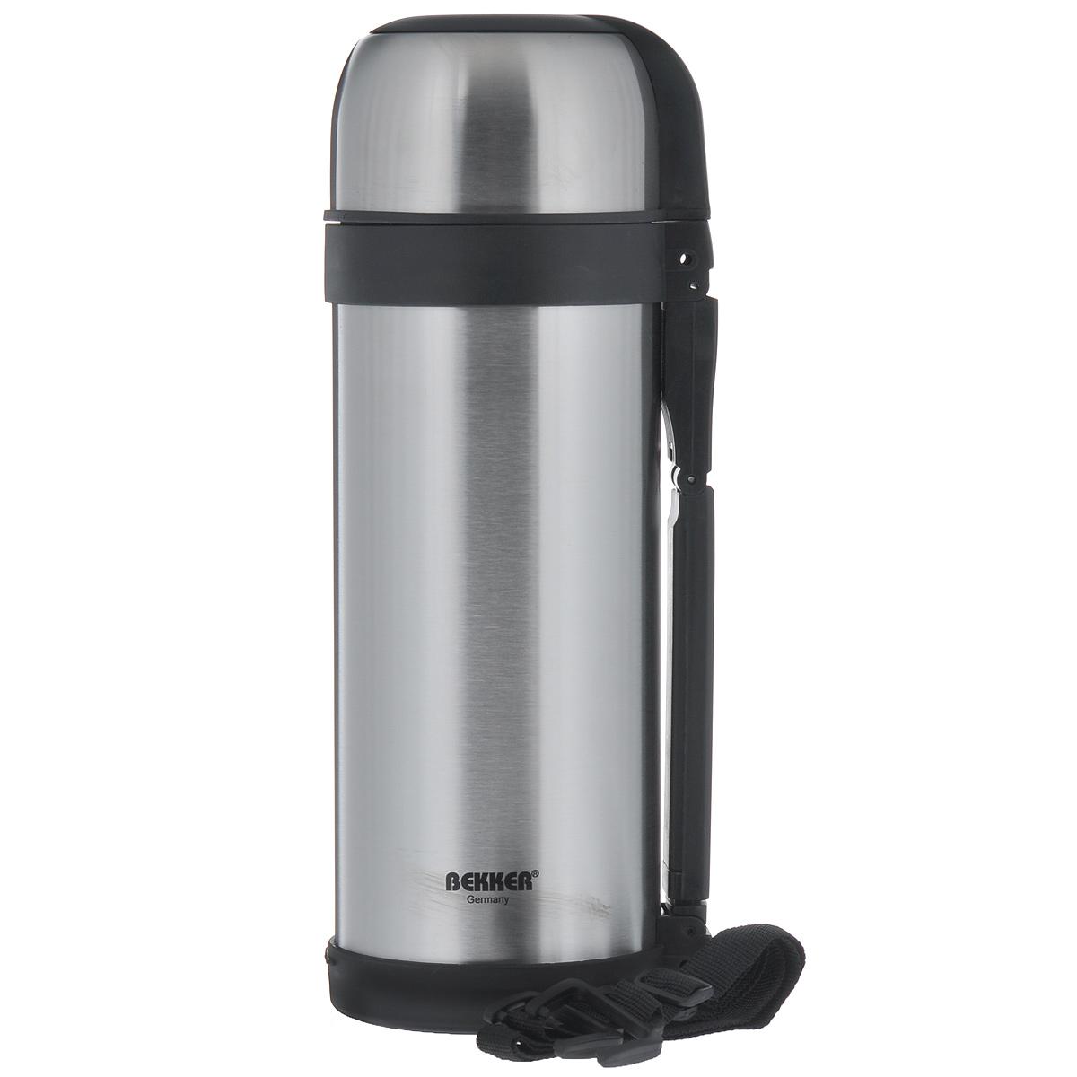 Термос Bekker, с широким горлом, 1,8 л. BK-79115610Термос Bekker изготовлен из высококачественной нержавеющей стали 18/8. Он имеет небьющуюся внутреннюю колбу с двойной стенкой и изолированную крышку. Изделие оснащено вакуумной кнопкой для жидкости, а также удобной ручкой. Термос сохраняет напитки и пищу горячими и холодными долгое время. В комплекте ремень для переноски, что делает использование термоса легким и удобным.Легкий и прочный термос Bekker идеально подойдет для транспортировки и путешествий.