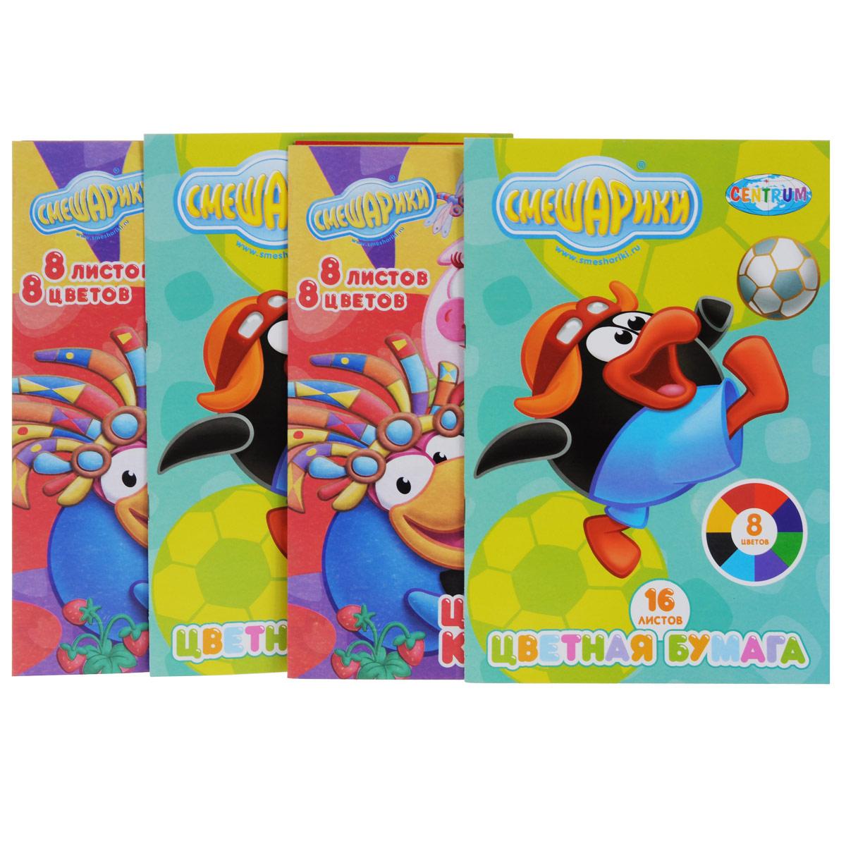 Набор для творчества Смешарики, №2, цветная бумага, цветной картон72523WDНабор для творчества Смешарики позволит вашему ребенку создавать всевозможные аппликации и поделки. В набор входят две упаковки с 8 листами цветного картона желтого, зеленого, голубого, красного, оранжевого, синего, коричневого и черного цветов и две упаковки цветной бумаги с листами желтого, зеленого, синего, малинового, оранжевого, темно-синего, коричневого и черного цветов (по 2 листа каждого цвета). Упаковки представляют собой картонные папки, оформленные изображениями персонажей популярного мультсериала Смешарики. Работа с набором для творчества Смешарики развивает мелкую моторику, усидчивость, внимание, фантазию и творческие способности. С таким богатым материалом ваш ребенок сможет заниматься творчеством круглый год!
