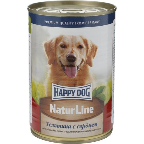 Консервы для собак Happy Dog Natur, с телятиной и сердцем, кусочки в соусе, 400 г15875Консервы для собак Happy Dog Natur с телятиной и сердцем хорошо усваиваются и обладают невероятно привлекательным вкусом, который обязательно оценит даже привередливый питомец. Это полностью мясные консервы, дополненные сбалансированным комплексом витаминов и минералов, необходимых для правильного функционирования всего организма. Немаловажной особенностью консервов является наличие только одного источника животного белка и отсутствие в составе сои, искусственных красителей и консервантов, что положительно сказывается на полезных свойствах консервов (в том числе существенно уменьшается вероятность возникновения аллергических реакций). Консервы для собак Happy Dog Natur приготовлены из отборной телятины по уникальной технологии, позволяющей сохранить питательные свойства и вкусовые качества продукта. Полезные свойства телятины весьма обширны и обусловлены наличием в составе большого количества жизненно необходимых витаминов и минералов. Витамины...