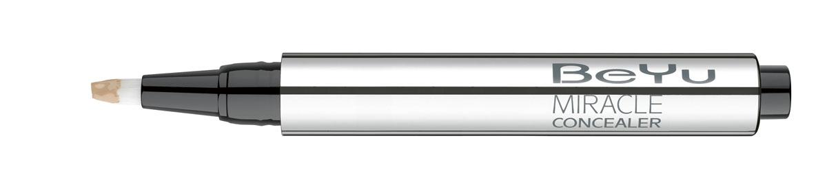 BeYu Консилер Hydro Miracle Concealer, увлажняющий, тон №4, 2,5 мл1301210Увлажняющий консилер BeYu Hydro Miracle Concealer быстро и эффективно скрывает темные круги под глазами.Светоотражающие частицы скрывают морщинки и мелкие несовершенства кожи, создавая идеальный ровный тон. Инновационный состав увлажняет и защищает нежную кожу вокруг глаз.Благодаря аппликатору в форме кисти и легкой текстуре, консилер легко наносить на зону вокруг глаз и обеспечивает комфорт в течении всего дня.Научные тесты показали, что при ежедневном использовании (28 дней) повышается увлажненность кожи увеличивается на 37%, кожа становится более эластичной. Подходит для чувствительной кожи. Товар сертифицирован.
