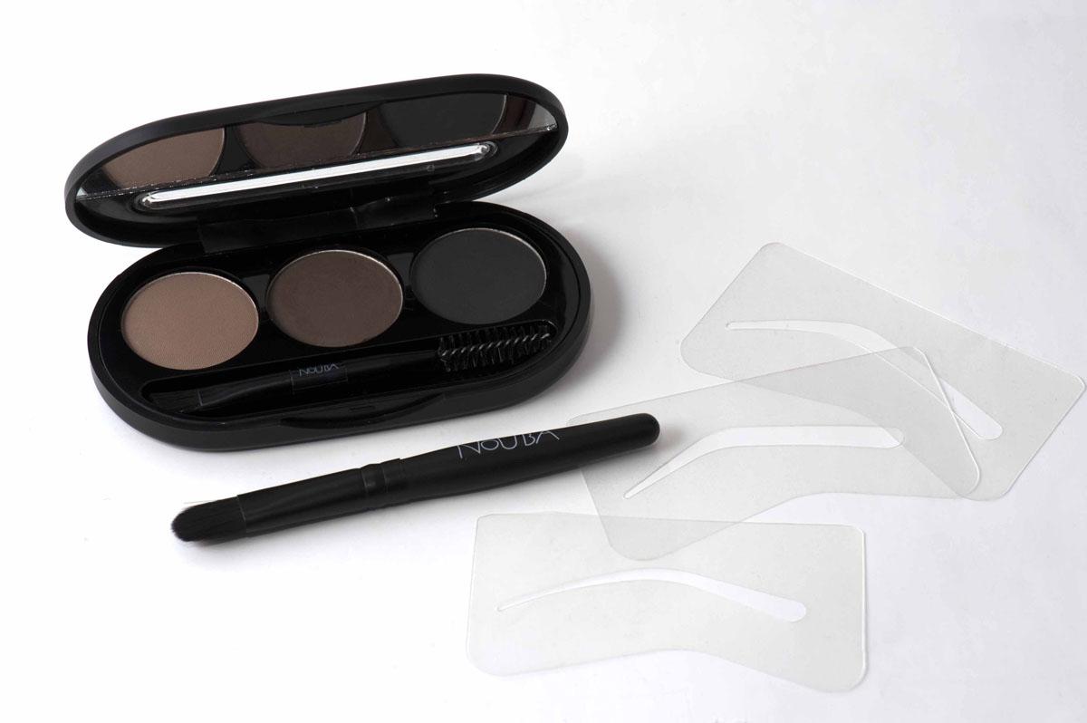 NoUBA Набор теней для бровей Eyebrow Powder Kit, 3 цвета, тон №01, 3 г52301Тени для бровей позволят очертить форму бровей, усилить или скорректировать их цвет. 3 оттенка, представленные в наборе, можно использовать как по отдельности, так и смешивать друг с другом до получения идеального тона, который подходит именно вам! В набор входят 3 трафарета, аппликатор и двустороння кисть (со спиралевидными и плоскими щетинками) для нанесения теней. Товар сертифицирован.