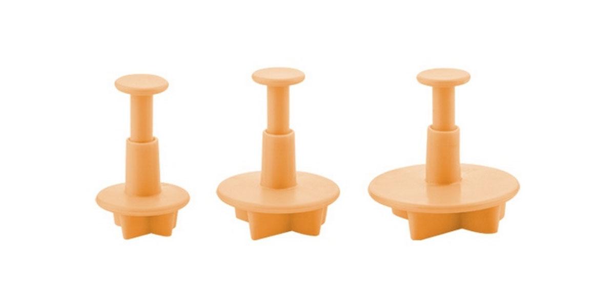 Формочки с поршнем Tescoma Delicia Deco, цвет: желтый, 3 шт. 63294294672Формочки с поршнем Tescoma Delicia Deco, изготовленные из высококачественного пластика, отлично подходят для легкого вырезания украшений из марципана, мастики или помадки. В наборе - 3 формочки в виде кленовых листьев разного размера.Можно мыть в посудомоечной машине.