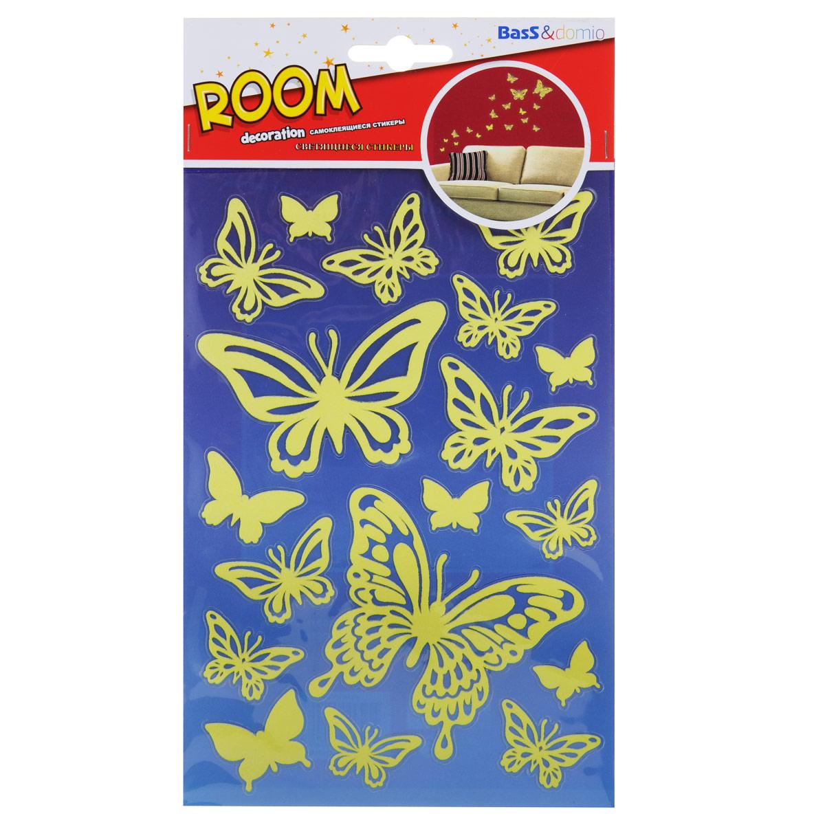Наклейки для интерьера Room Decoration Бабочки, светящиеся, 21 х 14 смPUA1010Уважаемые клиенты! Обращаем ваше внимание на возможные изменения в дизайне упаковки. Качественные характеристики товара остаются неизменными. Поставка осуществляется в зависимости от наличия на складе.