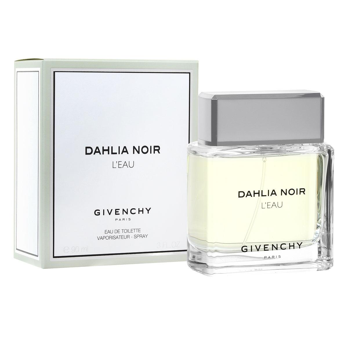 Givenchy Туалетная вода Dahlia Noir Leau, женская, 90 млP046292Аромат Dahlia Noir LEau от Givenchy таит в себе нежную чистоту и удивительную романтичность. Аромат очарует вас легкостью и женственностью своего звучания, подарит ощущение гармонии и счастья. Композиция аромата построена удивительно гармонично, каждая нота становится естественным продолжением предыдущей. Классификация аромата : шипровый, цветочный. Пирамида аромата : Верхние ноты: цитрусовые, нероли. Ноты сердца: роза. Ноты шлейфа: пачули, белый кедр, мускус. Ключевые слова Чистый, женственный, нежный. Туалетная вода - один из самых популярных видов парфюмерной продукции. Туалетная вода содержит 4-10% парфюмерного экстракта. Главные достоинства данного типа продукции заключаются в доступной цене, разнообразии форматов (как правило, 30, 50, 75, 100 мл), удобстве использования (чаще всего - спрей). Идеальна для дневного использования. ...