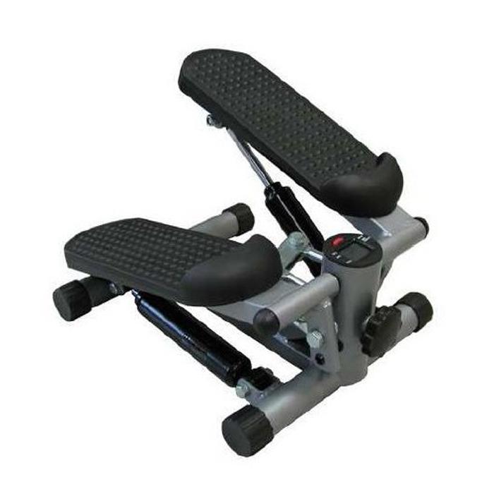 Степпер Sport Elit SE-5105, цвет: серый, 34 см х 20 см 42 смSE-5105Мини-степпер Sport Elit SE-5105 это удобный и компактный тренажер, позволяющий заниматься спортом в ограниченных пространствах. Степперы создают нагрузку на мышцы ног, ягодиц и брюшного пресса. Особенности степпера: Угол наклона педалей можно увеличить, закручивая фиксатор. Угол наклона можно уменьшить, открутив фиксатор. Амплитуду педалей можно регулировать, покрутив фиксатор, расположенный спереди. Компьютер: Count: показывает количество шагов. Time: показывает время тренировки. Calorie: показывает количество потраченных калорий за время тренировки. Reps/min: показывает среднее количество шагов в минуту. Scan: последовательно отображает значения функций в следующем порядке: Count - Time - Calorie - Reps/min. Назначение красной кнопки: Выбор нужной функции. При удержании кнопки в течение 3 секунд, сбрасываются все показатели.