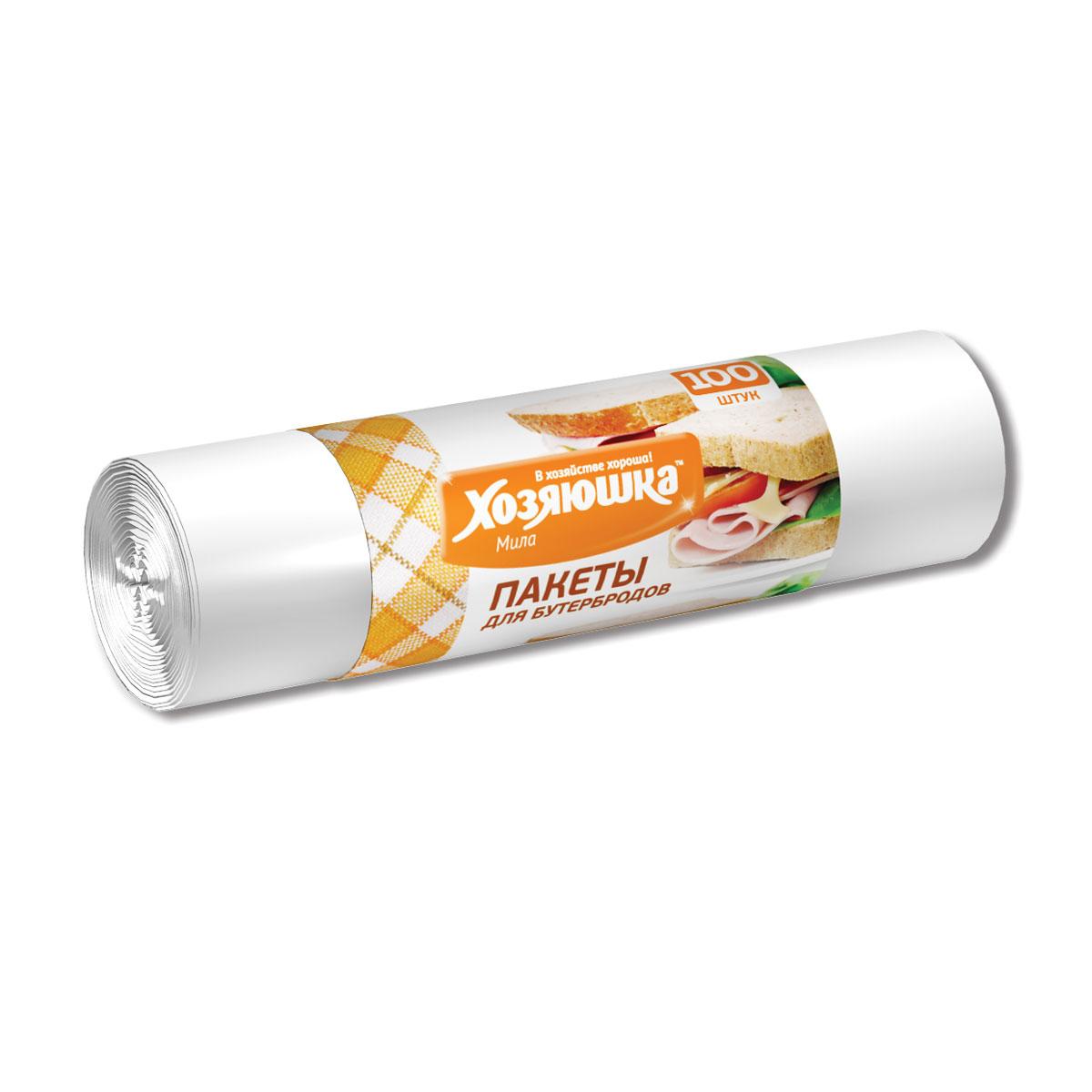 Пакеты для бутербродов Хозяюшка Мила, 17 х 28 см, 100 шт09013Пакеты для бутербродов Хозяюшка Мила являются предметами первой необходимости. В школу, на работу или в поездку брать с собой бутерброды будет гораздо удобнее в пакетах, которые позволят надежно сохранить свежесть продуктов. Фасовочные пакеты - это самый распространенный, удобный и практичный вид современной упаковки, предназначенный для хранения и транспортировки практически всех видов пищевых и непродовольственных товаров. Размер: 17 см х 28 см.