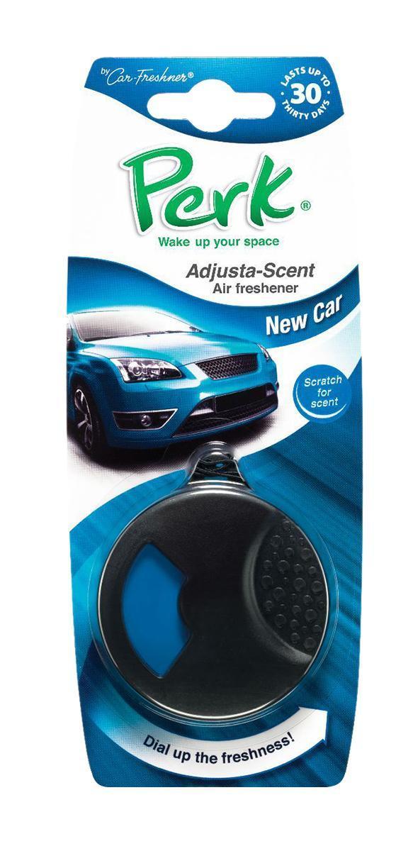 Ароматизатор подвесной с дозатором Perk Новое авто (New Car)CTK-52108-24Подвесной ароматизатор Perk с дозатором уникален по эффективности действия, насыщенности и стойкости запаха. Подходит для использования в салоне автомобиля, а также в помещениях. 100% спрессованная целлюлоза, не токсичные отдушки